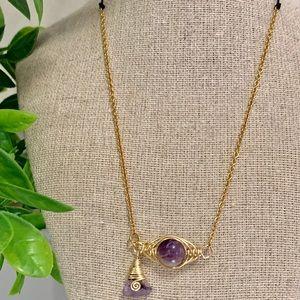Amethyst adjustable necklace